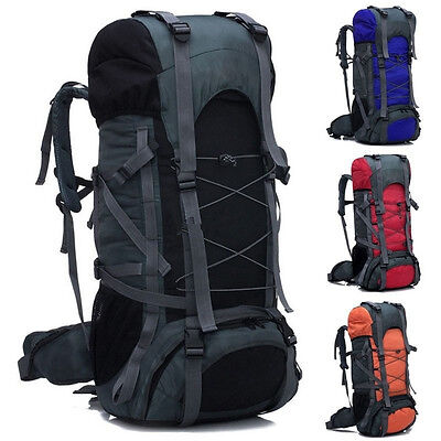Camping Rucksack Backpack Hike Outdoor Military Tactical Travel Large Bag 70L