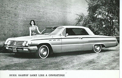 Buick Hardtop Looks Like a Convertible Original Black White Press Photograph