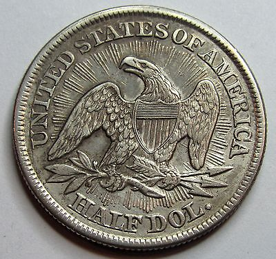 - ETATS-UNIS - Half Dollar - Liberty seated with Rays - 1853 -