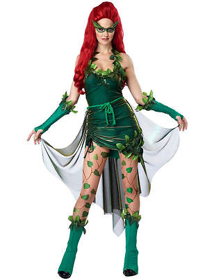 Ladies Poison Ivy Superhero Lethal Beauty Halloween Fancy Dress Costume