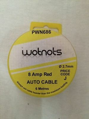 To Clear - Pearly Wot-Not Single Cable 8Amp X 6M Red Pc02/1   Pwn686