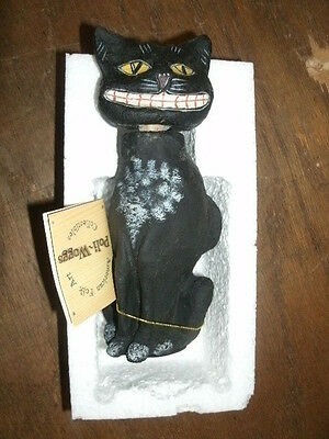 """6"""" Tall Black Cat Candy Container by The Salem Witch"""