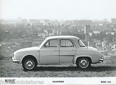 Renault Dauphine Side View in Paris Press Photograph 1965 Mint Condition