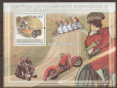 MOZAMBIQUE 2009 HISTORY OF  TRANSPORT SHEET (no2) MNH