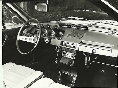 Renault 17 TS Dashboard Interior Original Press Photograph Mint Condition