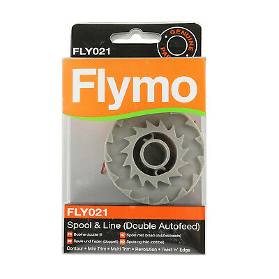 Genuine Flymo Trimmer Double Autofeed Spool & Line Strimmer Garden Plants FLY021