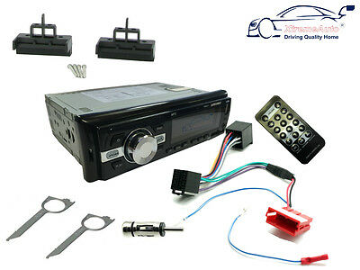 AUDI A2 99-05 Car Stereo Head Unit FM Radio, Bluetooth AUX USB, Fascia Kit, ISO