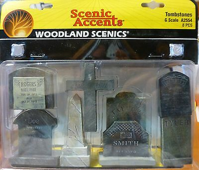 Woodland Scenics #2554 (G Scale) Scenic Accents -- Tombstones 8