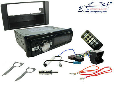 AUDI A4 08-16: Car Stereo Head Unit Kit. FM Radio Bluetooth, USB MP3, Fascia ISO