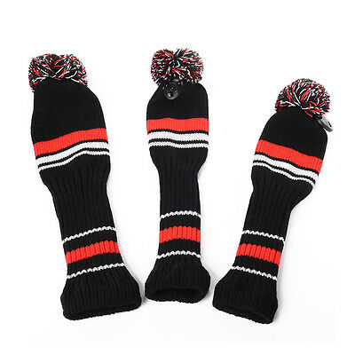 3x Golf Club Knitted Headcover Head Covers For Titleist Taylormade OS427