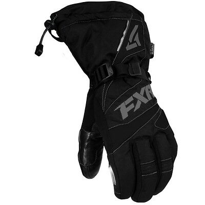 FXR Racing Men's Fuel Insulated Winter Snowmobile Gloves - Black & Charcoal