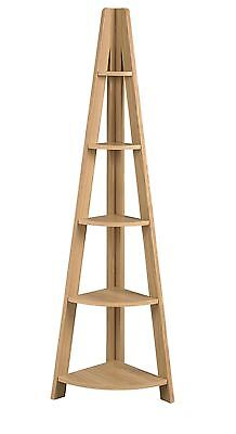 Bonsoni Tibado Corner Ladder Shelving Oak by Lloyd Phillip & Delric