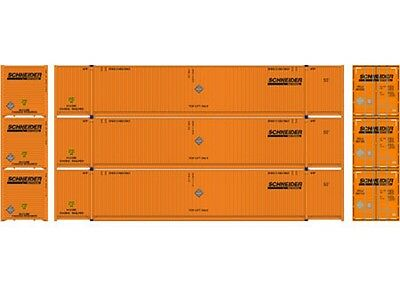 Athearn ATH27973 HO Scale RTR 53' CIMC Container Schneider Pack (3)
