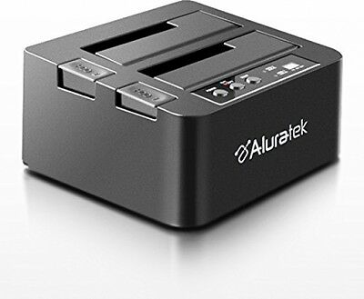 Aluratek External USB 3.0 Superspeed Dual Bay SATA Hard Drive Duplicator Drives