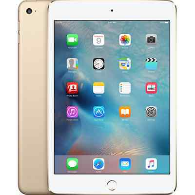 "APPLE iPAD MINI 4 7.9"" RETINA 128GB WI-FI + 4G LTE IOS 8 ITALIA GOLD"