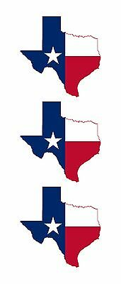 3 - Texas State Map Flag HELMET HARD HAT TOOLBOX LUNCH BOX STICKERS HS1011