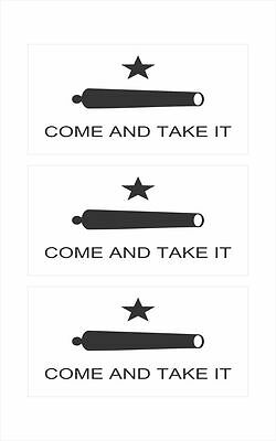 3 - Come and Take It Texas Flag Hard Hat, Toolbox, Helmet Sticker HS1014