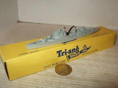 Vintage Rare Tri-ang Minic Waterline Ships M762 H.M.S. Superb in 1:1200 Scale