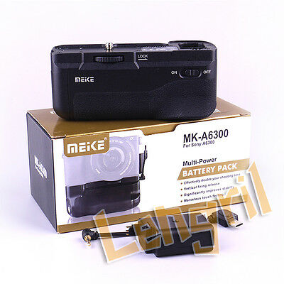 Meike A6300 Vertical Multi Power Battery Hand Grip for Sony A6300 A6000 Camera