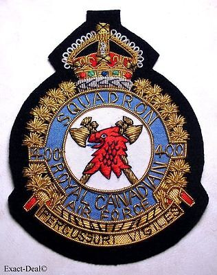 Canada - RCAF Royal Canadian Air Force 400 SQUADRON  KC Crest Badge