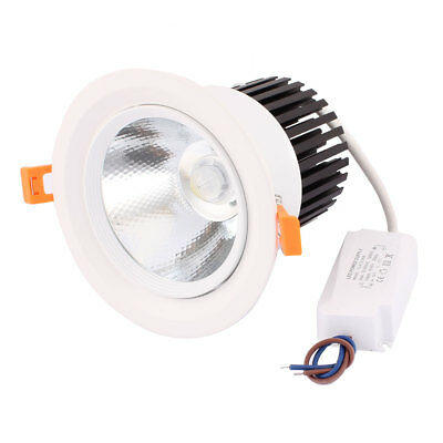 AC85-265 30W COB LED Ceiling Spotlight Lamp Downlight Recessed Pure White 2320lm