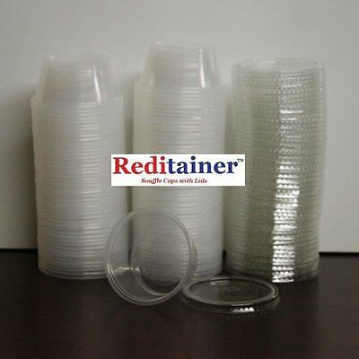 Reditainer Plastic Disposable Portion Cups Souffle Cup with Lids, Sale