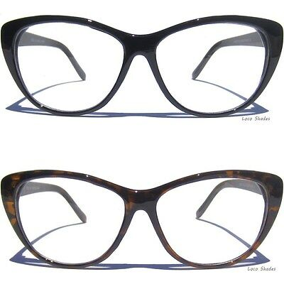 CAT EYE GLASSES Women's Eyewear Clear Lens Retro Fashion Vintage Inspired New