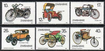 ZIMBABWE MNH 1986 100th Anniversary of Motoring Set