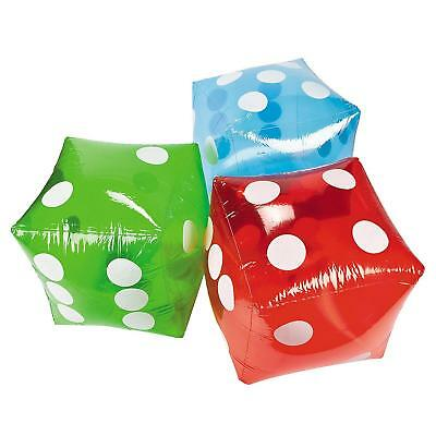 Giant Inflatable Dice In Blue Novelty Garden Outdoor Family Game Beach Toy Party