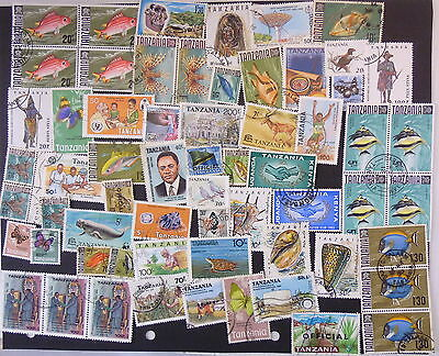 TANZANIA x 50 ASSORTED STAMPS SELECTION 1 EXCELLENT COLLECTION