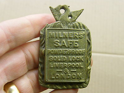 "Antique Safe Plate ""Milners Safe Powder Proof Liverpool & London"".."