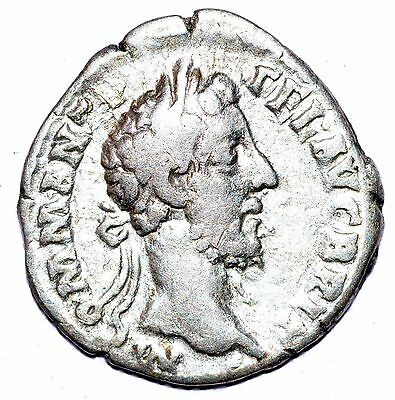 AUTHENTIC COMMODUS ROMAN COIN - AR Silver Denarius, Rv. Victory - A418