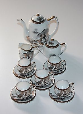 Hayasi Kutani Fine China Coffee Set.