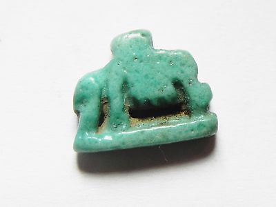 Zurqieh -Af630- Beautiful Faience Sow Amulet . 600 - 300 B.c