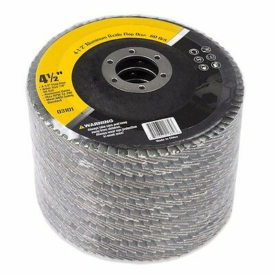 """4.5"""" X 7/8"""" Sand Paper FLAP DISC SANDING GRINDING CUTTING 60 GRIT PACK 10"""