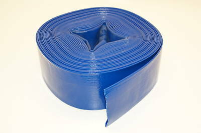 "Industrial Water Pump PVC Lay Flat Discharge Hose - 2"" X 25 Feet"