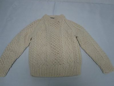 Vintage Cornel Hand Knit Ireland Toddler Childs Fisherman Knit Sweater 2T - 3T