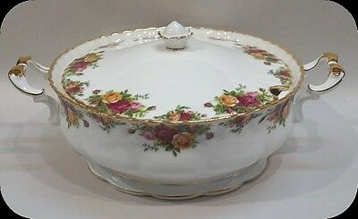 Royal Albert Old Country Roses Covered Soup Tureen RARE