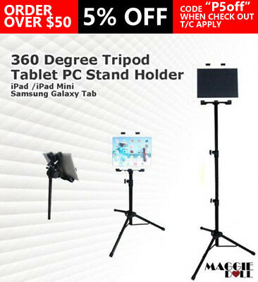 360 Degree Tripod Stand Holder Adjustable Foldable Bracket Cradle For iPad 2 3 4