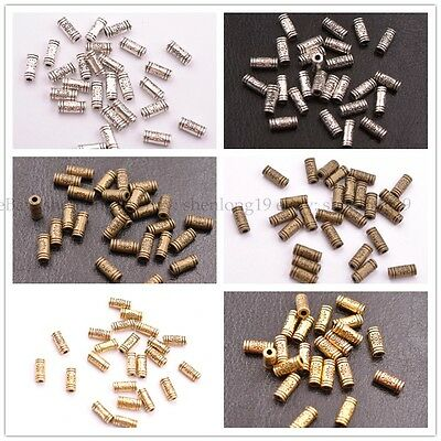 20/50/100Pcs Antique Silver/Gold/Bronze Charm TUBE Spacer Beads 9MM SH3032