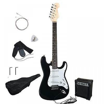 New Black Electric Guitar with Amp Case and Accessories Pack Beginner Starter