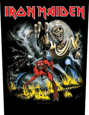 IRON MAIDEN - Rückenaufnäher Backpatch Number of the...