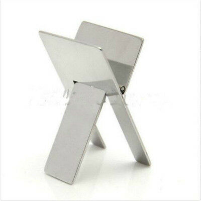 1pc Stainless Steel Cigar Stand Chrome Folding Ashtray Holder Display new