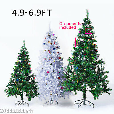 Multsize Christmas Tree Fireproof Leaf Holiday Decor w/ Ornaments