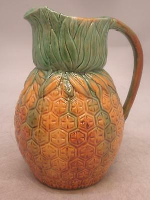 Staffordshire Majolica Pottery Pineapple Jug - Vintage Style Reproduction