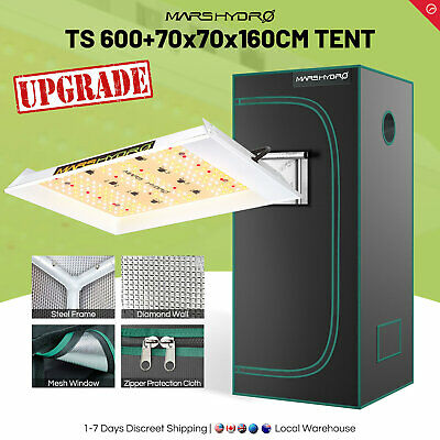 Mars Hydro 300W Led Grow Light Veg Flower Plants+2' x 2' x 5' Grow Tent Kits