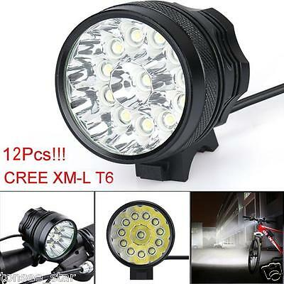 30000LM 11x CREE XM-L T6 LED 6x 18650 Stirnlampen Fahrrad Cycling Taschenlampen