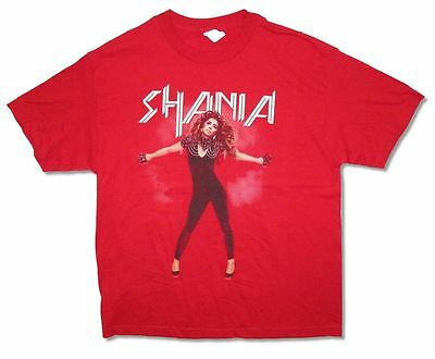 Shania Twain Pose Image Rock This Country Tour Adult Red T Shirt New Official