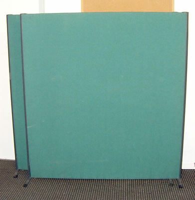 160cm (H) Free Standing Office Partition Room Divider Screens Royal Blue Colour