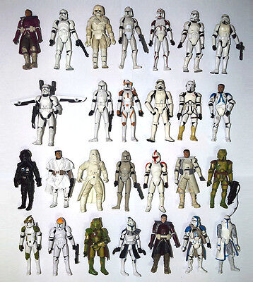 Lot of 5 Star Wars Figure Clone Strom Sand Trooper Pilot Captain Random Sent
